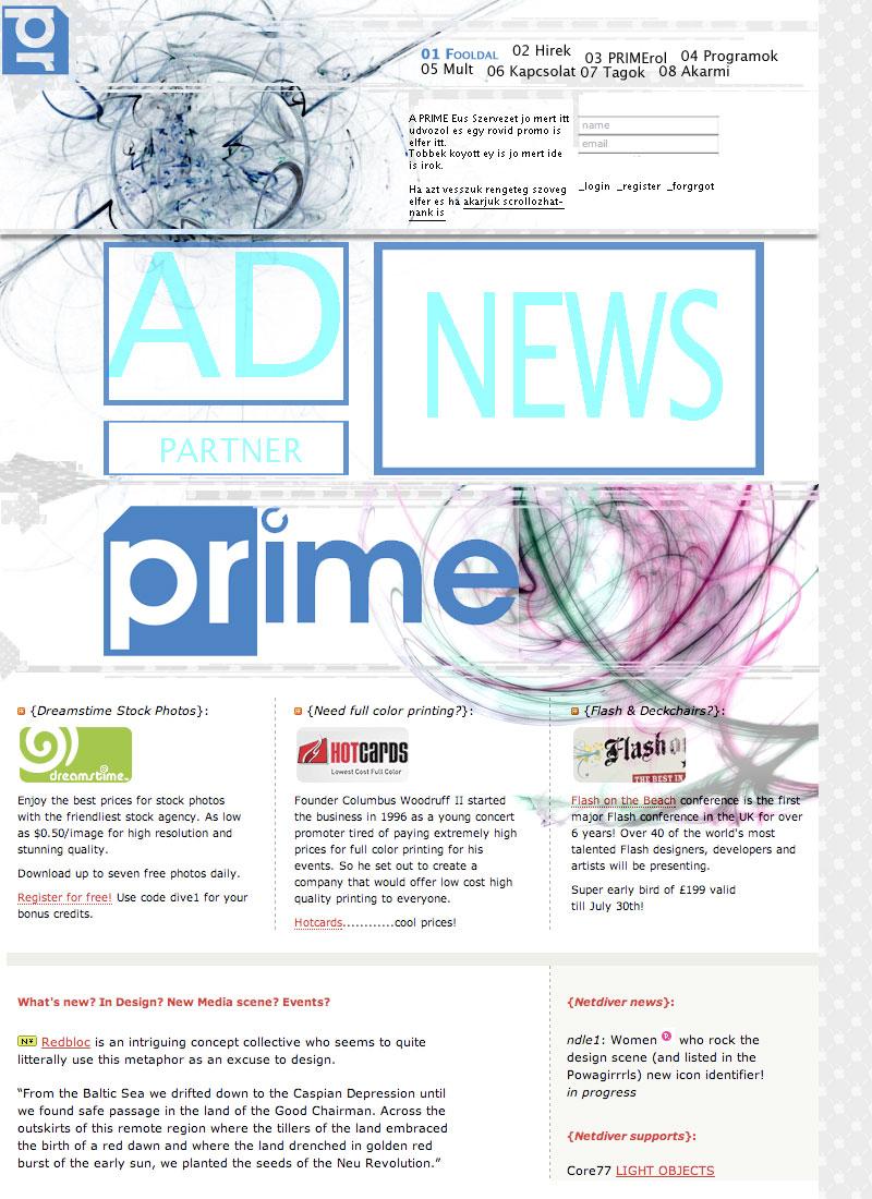 PRIME – PR Diákszervezet honlap