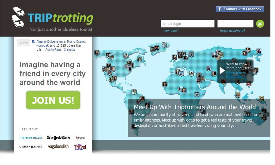 Triptrotting Connect App