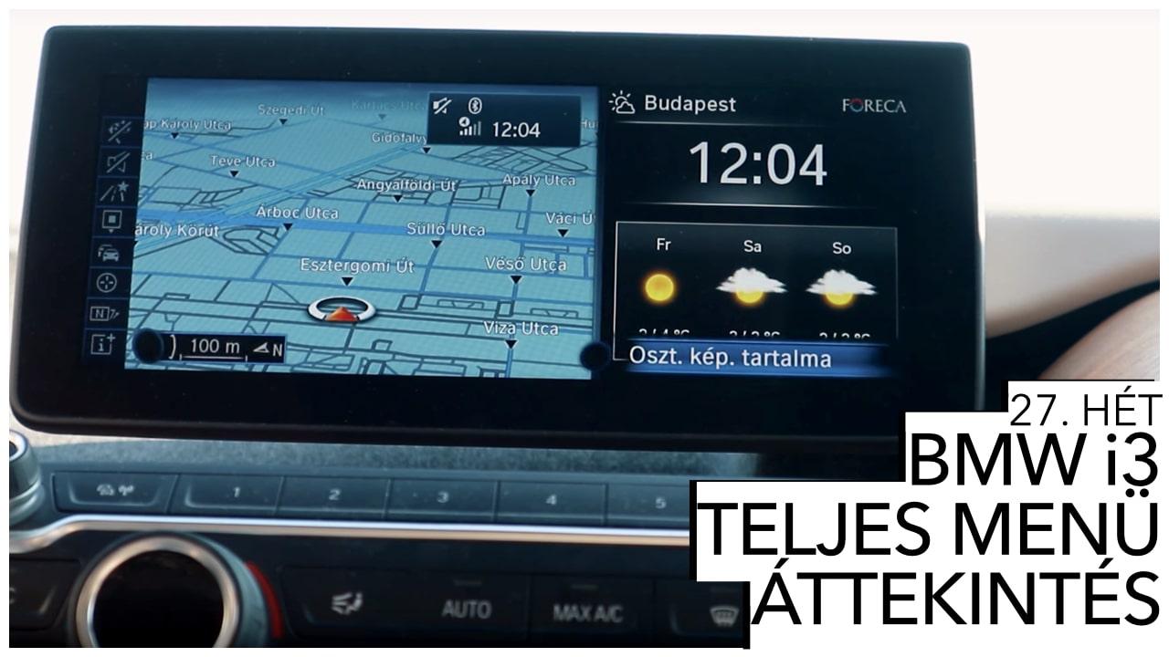 BMW i3 menu